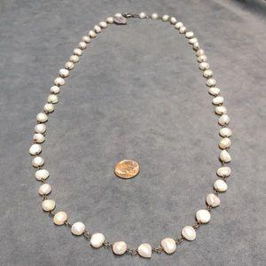 """NWT Silpada necklace N1368 silver/pearls 32"""""""